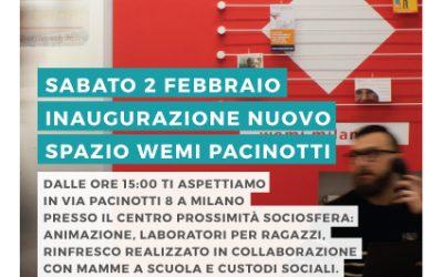 Inaugurazione Spazio Wemi Pacinotti